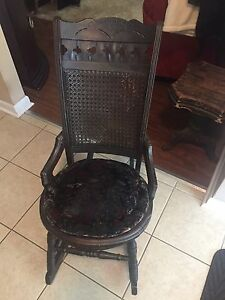 Antique 1860s rocking chair child size