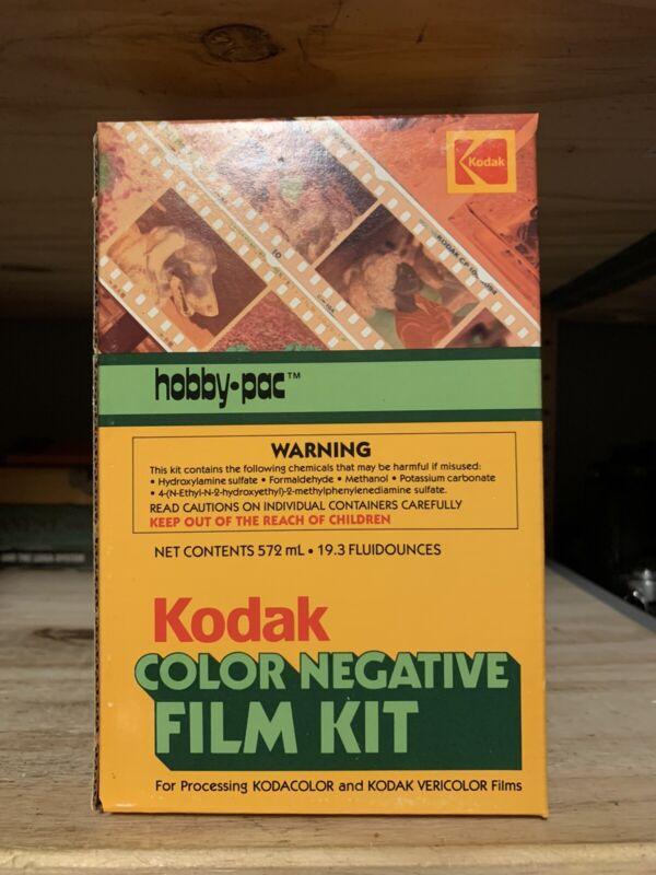 Vintage Kodak Color Negative Film Kit Hobby-Pac Developing Kit
