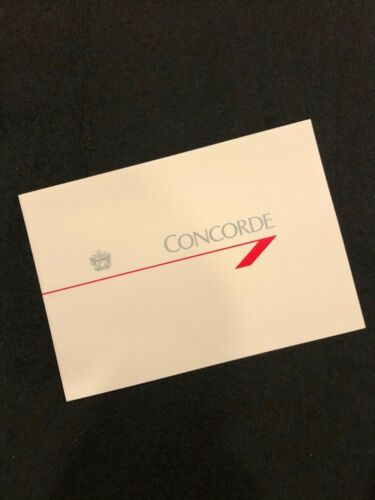 *RARE* BRITISH AIRWAYS CONCORDE BROCHURE