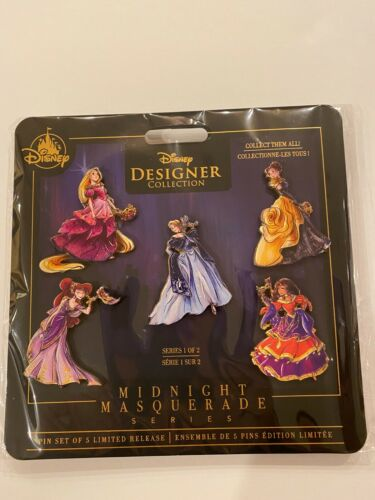 Disney Designer Collection Midnight Masquerade Pin Set Series 1 Limited Release