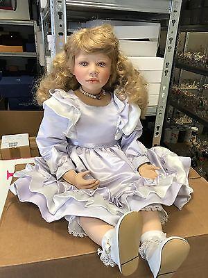 Christine Orange Porzellan Puppe 83 cm. Top Zustand.