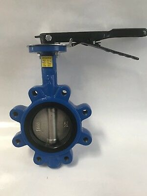 "4"" Butterfly Valve Lug Style Nickel Ductile Iron Disc Buna Seat NEW!"