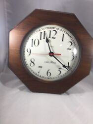 Vintage Seth Thomas Quartz Octagon Wood Wall Clock