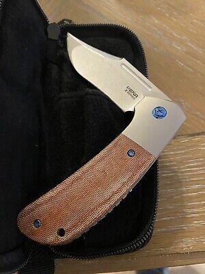 Pena Knives X Series Lanny's Clip in Dark Micarta w/Custom Polished Bolster/Clip