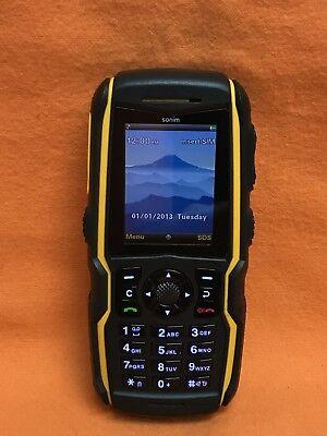 AT&T, SONIM XP1520 BOLT RUGGED CELL PHONE BLUETOOTH PTT FM RADIO BLACK SCORCH ()