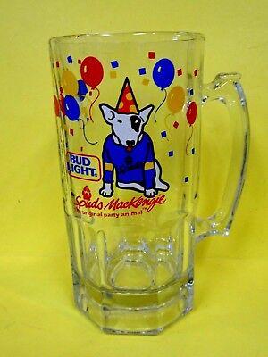 Bud Light Balloons (Vintage 1987 Bud Light Spuds MacKenzie HUGE 1qt Size Glass Mug)