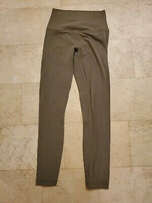 """Lululemon Align Olive Green Sage Size 4 25"""" 7/8 Leggings"""