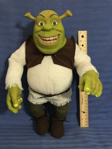"Rare Dreamworks McFarlane Toys 14"" Shrek Ogre Soft Action Figure Doll Toy  (D64)"