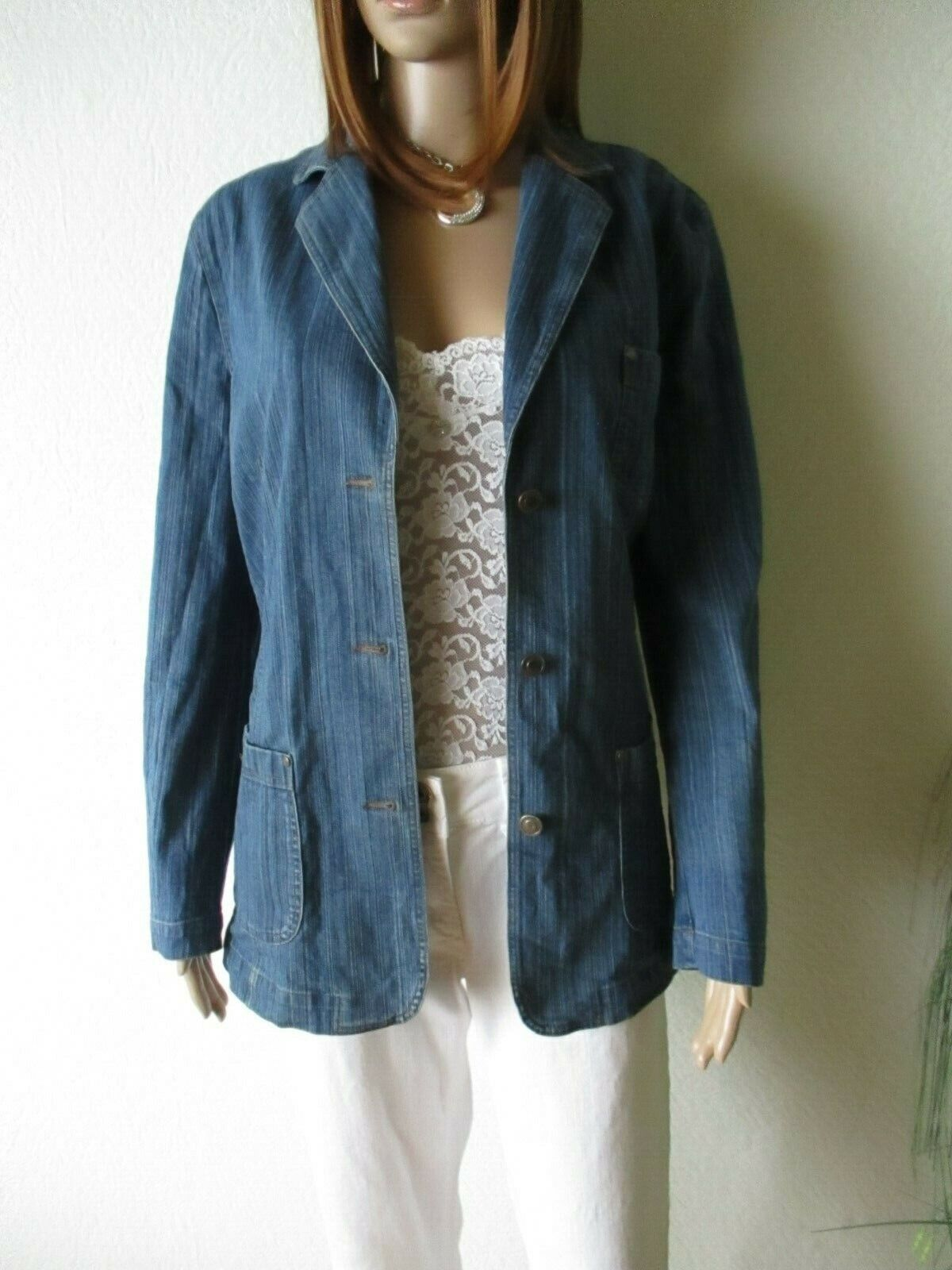 BONITA Jeansjacke Jacke Patches Blau Gr 42