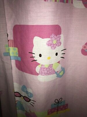 """Hello Kitty Sanrio Fabric Shower Curtain Standard Size 68"""" x 70"""" Preowned for sale  Acushnet"""