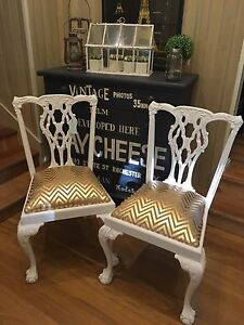 2 x French Provincial Shabby Chairs Greenfield Park Fairfield Area Preview