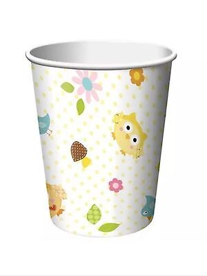 Happi Tree Owl Baby Shower Party Supplies-9oz. Cups-8ct. (Halloween Baby Shower Supplies)
