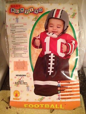 Deluxe Baby Bunting Football Player Costume Newborn 0 to 9 Months Rare Brand New](Newborn Football Costume)