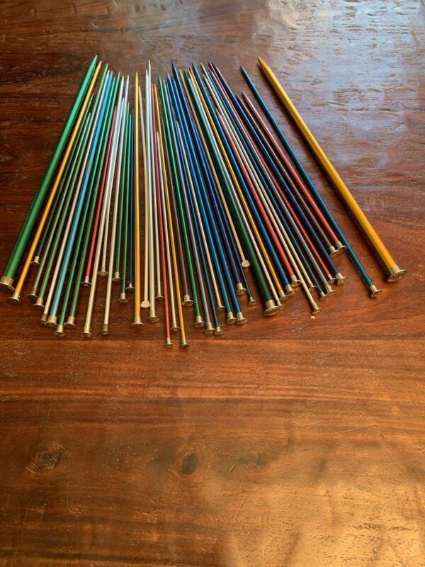 Boyd USA Alumium Knitting Needles 48 Each Size 2-15 Lot