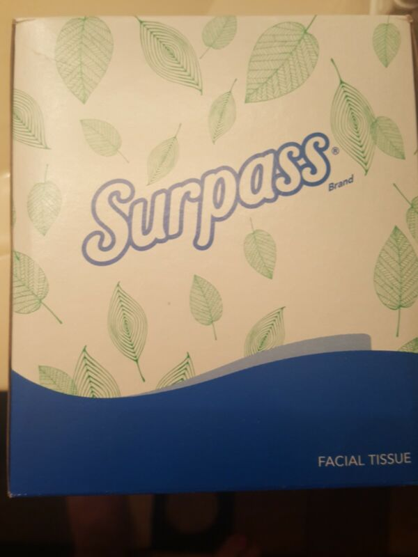 Surpass 21320 Facial Tissue, 2-Ply Pop-Up Box 110 tissues lot 32 boxes new white