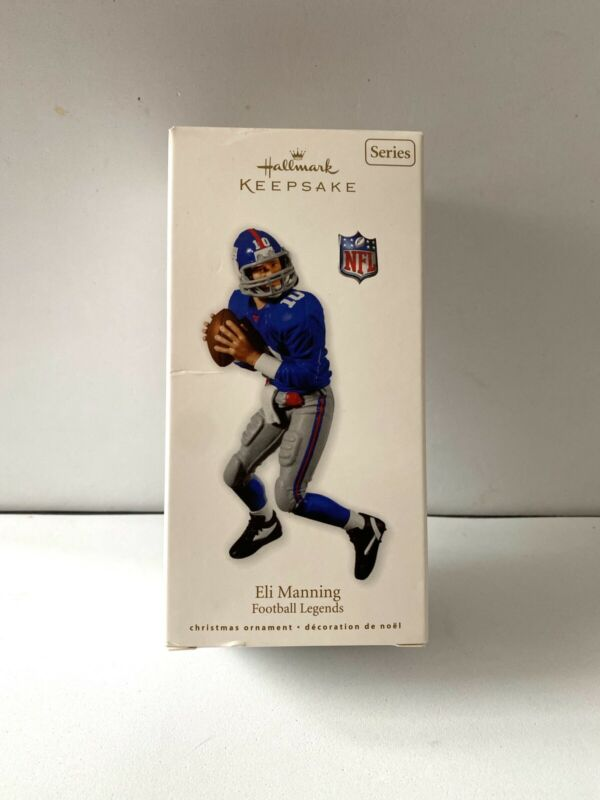 2010 Hallmark Eli Manning Ornament Football Legends Series #16 New York Giants