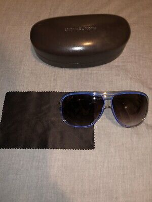 Michael Kors Medina (M2454S) Blue Metallic Aviator Sunglasses Used