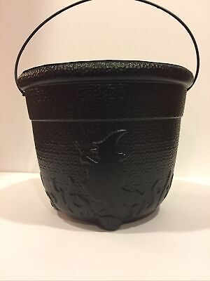 General Foam Black Witches Cauldron Bucket Pail Blow Mold Halloween Witch Flames