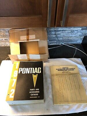 NOS 1960's-1972 Pontiac Master Parts And Accessories Catalog GTO Firebird OEM