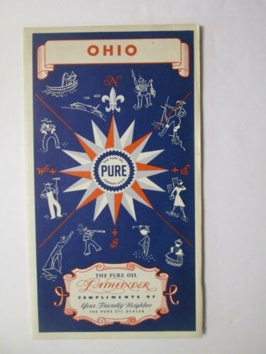 Pure Oil Road Map of Ohio 1941