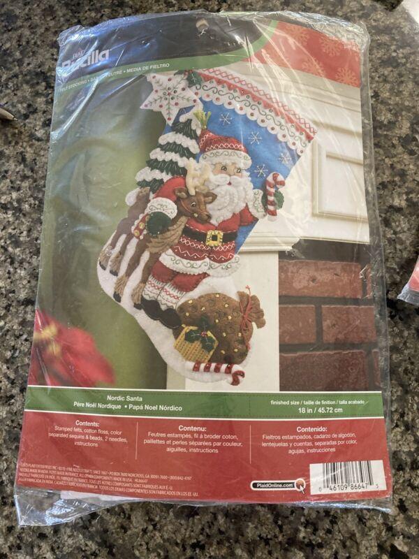 Burcella 18 Inch Nordic Santa. Stocking Kit