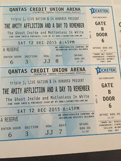 2 x The Amity Affliction and A Day To Remember Sydney City Inner Sydney Preview