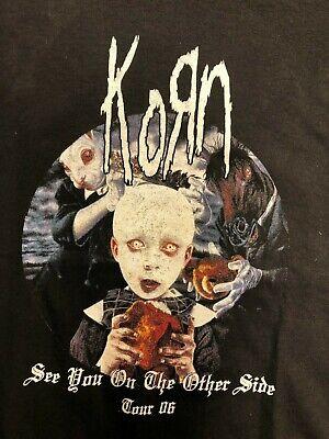 Vintage T Shirt - Korn Tour 2006 AllSport M Black Jonathan Davis Metal Band Rock