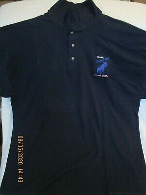 VIntage Golf Shirt Original Blue Ox Energy Drink Gildan XXL