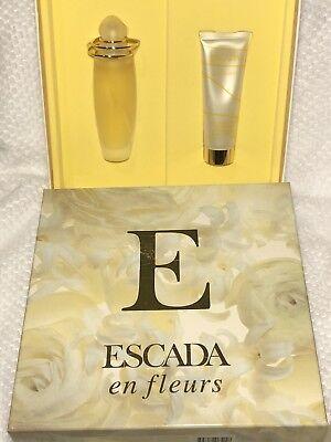 ESCADA EN FLEURS Set 1.7 Oz EDT Spray, 1.7 Oz Shower Gel New In Box Perfume GS ()