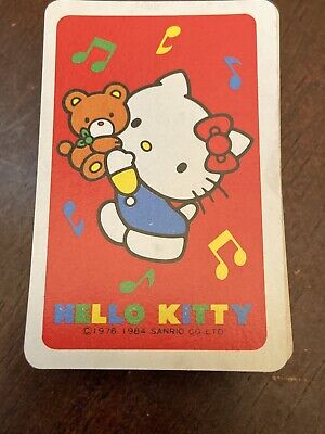 Hello Kitty And Teddy Beat Mini Playing Card Set Vintage 1976-1984?