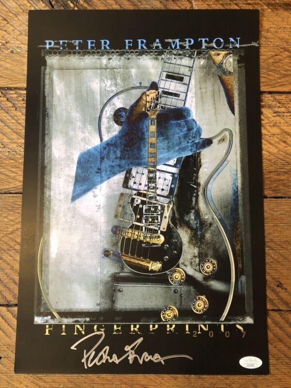 Peter Frampton Signed Autographed 13x19 Concert Fingerprints 2007 Poster JSA
