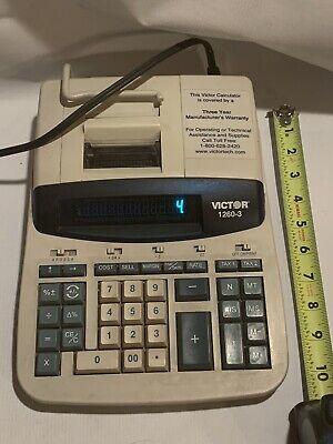 Adding Machine Calculator Victor 1260-3 Printing