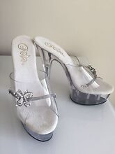 Crystal high heels $80 Parrearra Maroochydore Area Preview