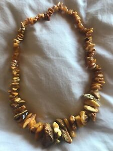 Exquisite 34-inch Lithuanian Baltic Amber Necklace