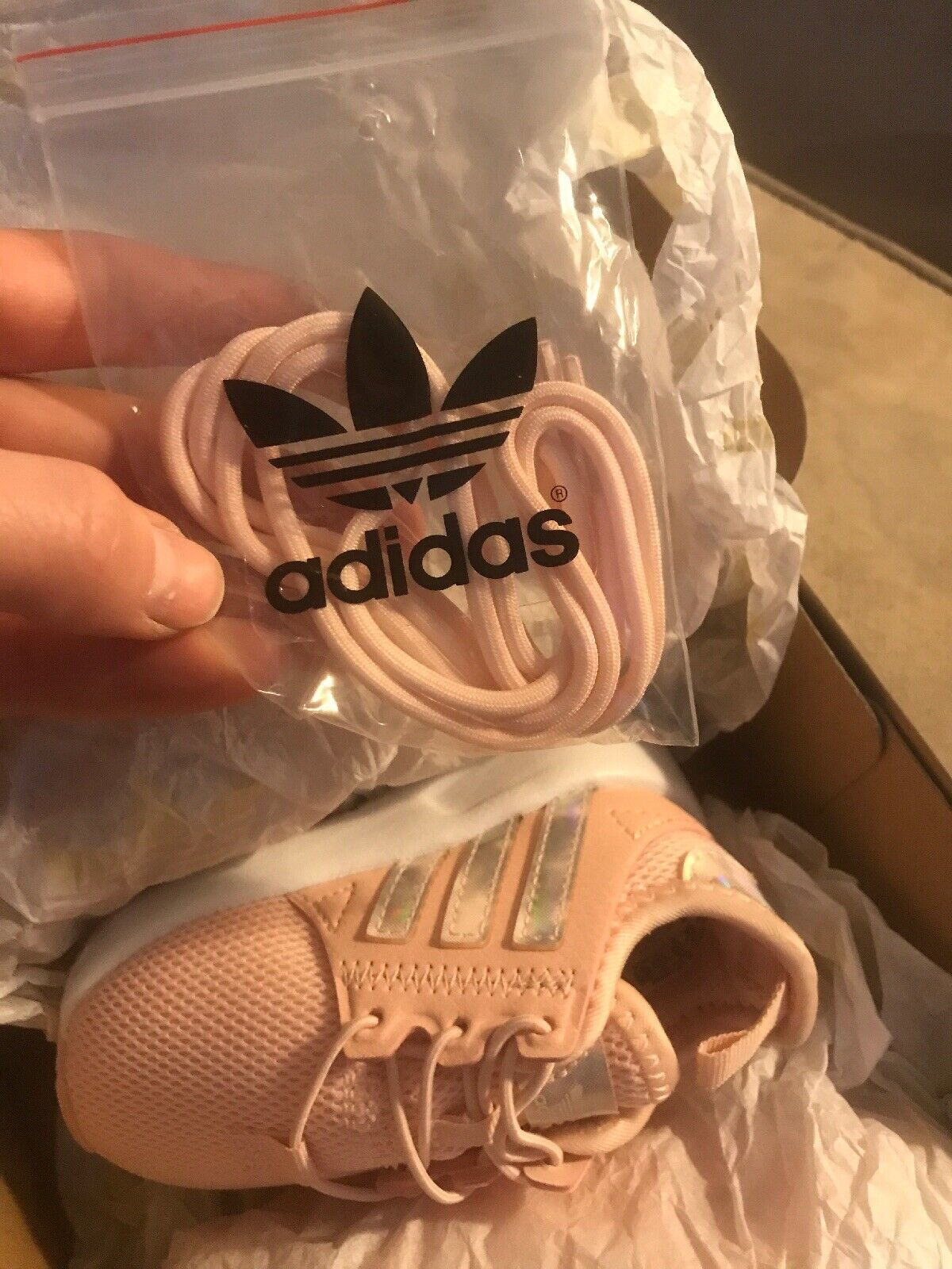 Toddlers Icepink Adidas Sneaker Size 4K 1