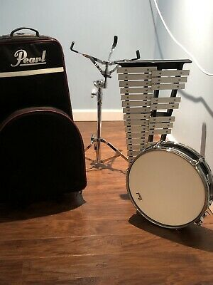 Pearl Student Bell Kit/Snare Drum w/Stand, and Rolling Bag