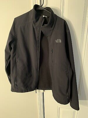 The North Face Mens Tech Fleece Full Zip Jacket Black Sz L Large Soft Shell