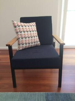 2x Mid-century Eames Style Occasional Chairs