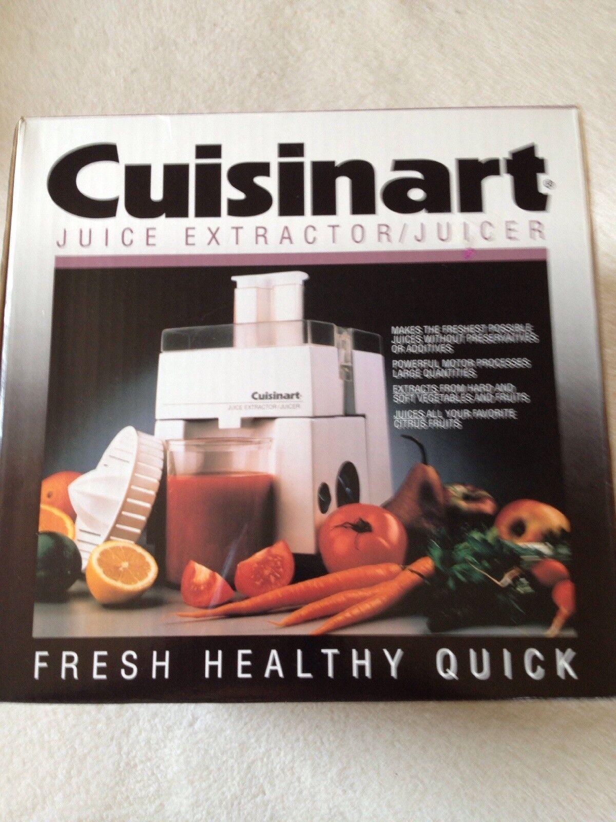 New Cuisinart Juice Extractor/Juicer 200w Model JE-4 w/Stain