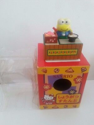 Vintage Sanrio Hello Kitty Kerokero Keroppi Happy New Year Stamp figure