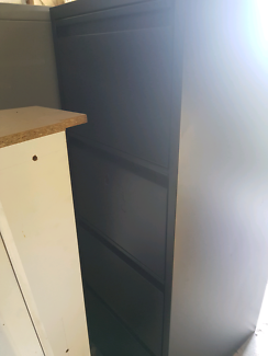 Heavy duty tables and filing cabinets