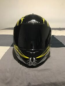 Black and Yellow ZOX Equinox motorcycle helmet