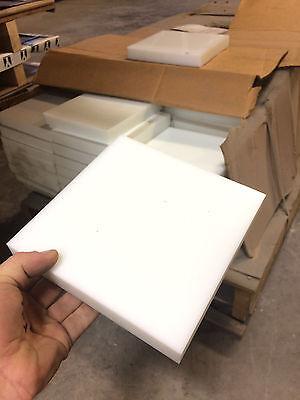 Hdpe High Density Polyethylene Plastic Sheet 1 X 7 X 7 Natural Color