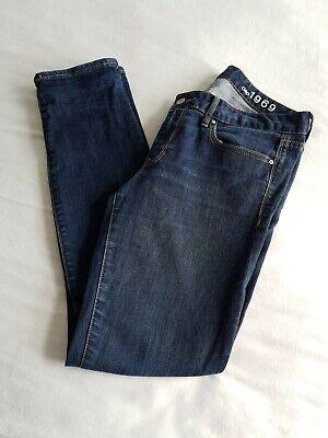 Dark Blue Skinny Fit Denim Jeans GAP 1969 Size 12 W30 Reg Leg