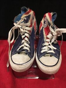 5e414a6c46 THE WHO Converse Chuck Taylor High Top British Flag Union Jack 2008 Mens  Size 7
