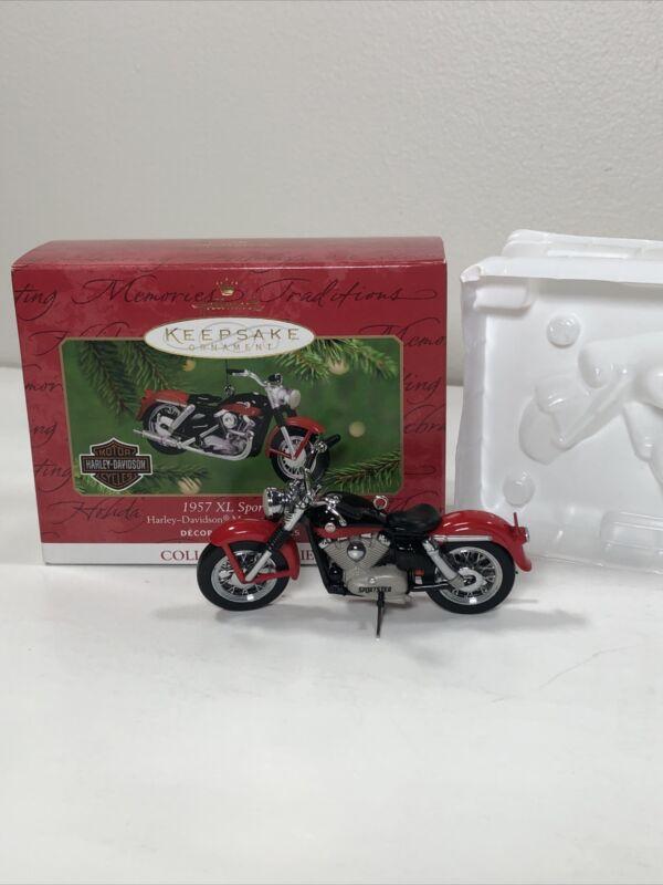 Hallmark 2001 Keepsake 1957 XL Sportster Motorcycle Harley Davidson Ornament