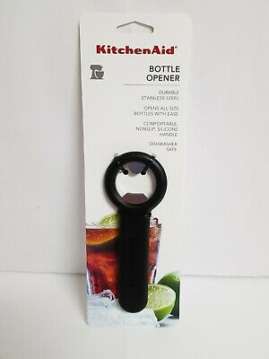KITCHENAID BLACK BOTTLE OPENER NEW SLIM DESIGN