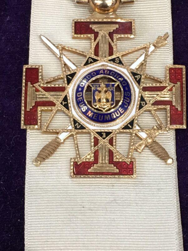 1926 Freemasons Masonic 33rd Degree 14K Gold Medal W/ Enameling.Mohawk Valley NY