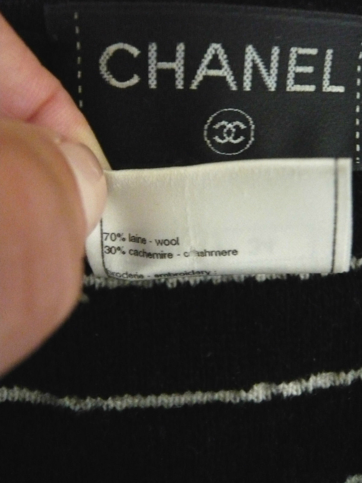 Chanel robe tweed camélia t 34 (36)