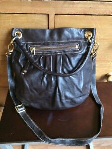 "6106bbed1968 ROOTS ""Olivia"" Leather Purse"